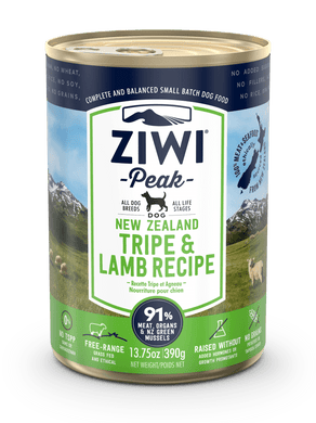 ZIWI Peak Tripe & Lamb Recipe for Dogs (cans)