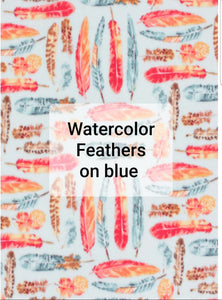 Watercolor Feathers Sack