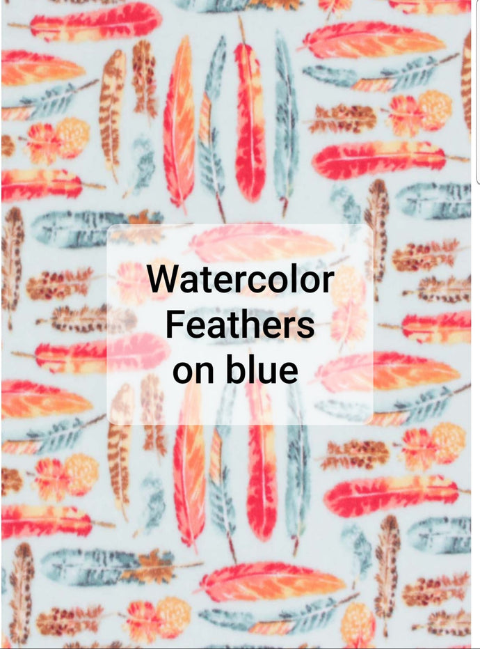 Watercolor Feathers Liner