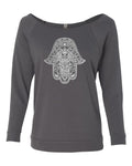 LADIES OFF SHOULDER HAMSA TOP