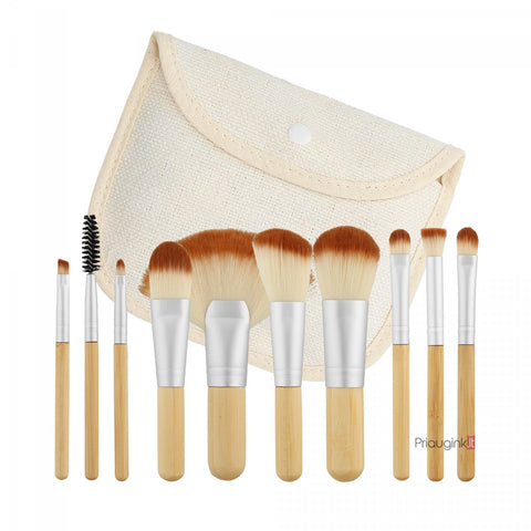 BRUSH SET 10 pcs (TRAVEL SIZE)