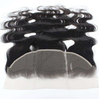 Forawme 13X4 Lace Closure 13*4 Lace Frontal Closure With Pre plucked Baby Hair Natural Hairline Body Wave Human Hair