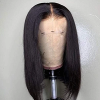 LaceClosureWig 14 Inch Bob Wig | Lace Front Wigs Straight Human Hair Natural Black
