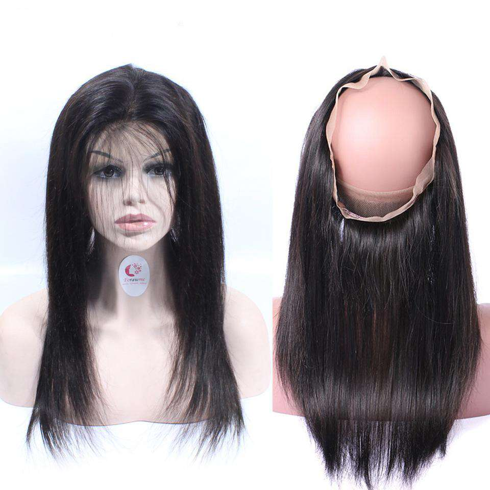 Forawme 360 Lace Closure 360 Lace Closure Frontal 100% Human Hair Straight Hair
