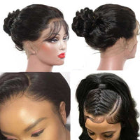Forawme 360 Lace Wigs 360 Lace Frontal Wigs Mink Human Hair Hight Ponytail Wig(Medium Size Cap 22.5)