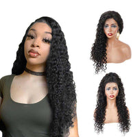 Forawme 360 Lace Wigs Deep Wave / 18 Inches / 150% Density 360 Lace Frontal Wigs Mink Human Hair Hight Ponytail Wig(Medium Size Cap 22.5)