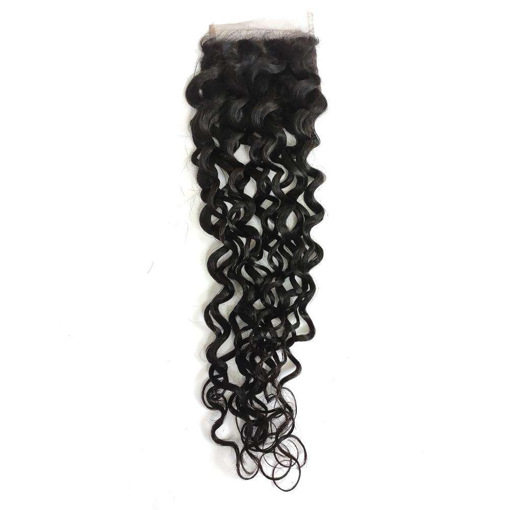 Forawme 4X4 Lace closure Water Wave 4*4 Lace Closure Wet And Wavy Closure With Pre plucked Natural Hair line