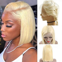 Forawme Bob Lace Wigs 12 Inch / Blonde 613 Bob Lace Front Wigs Human Hair Wig Blonde 613 Pre-Plucked