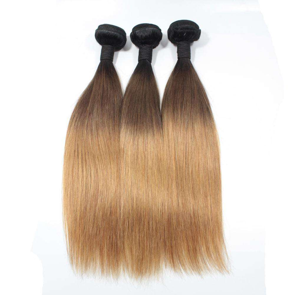 Forawme Brazilian Hair Bundle Brazilian Human Hair Silky Straight Bundles 3pcs/lot #1B/4/27 Ombre Straight Hair