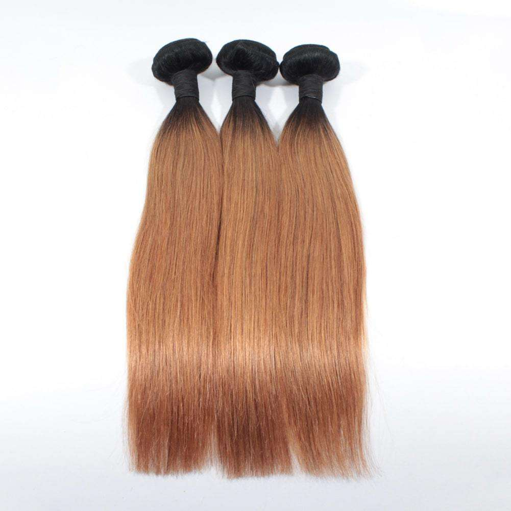 Forawme Brazilian Hair Bundle Silky Straight Brazillian Human Hair 3pcs/lot #1B/30 Straight Hair