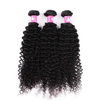 Forawme Bundles With Closure Brazilian Curly Hair 3 Bundles With 13x4 Lace Frontal