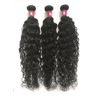 Forawme Bundles With Closure Human Hair Water Wave Hair Bundles With 4X4 Lace Closure