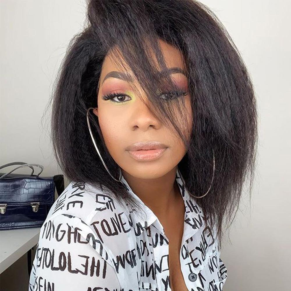 Forawme HD Lace Wigs Lace Front Wigs Pre-Plucked Kinky Yaki Straight