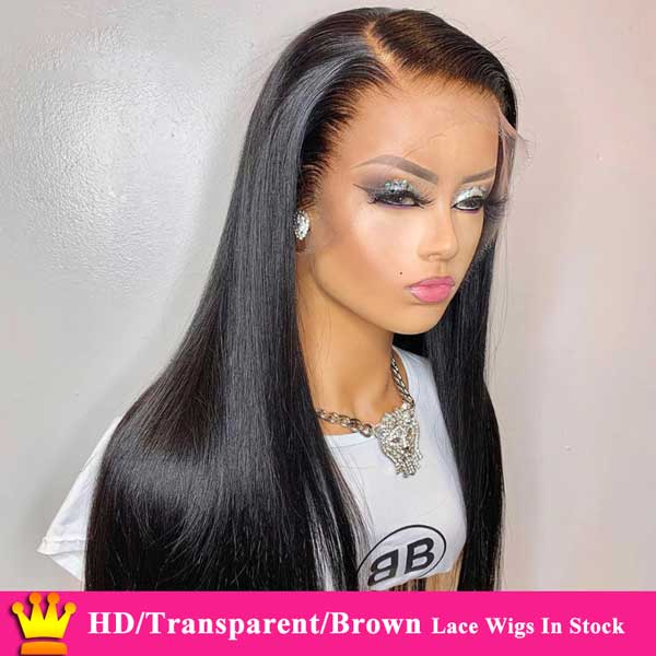 Forawme HD Lace Wigs Lace Front Wigs Pre-Plucked Mink Straight Wig