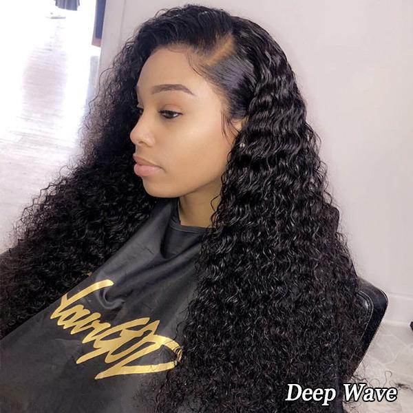 Forawme HD Lace Wigs Pre Plucked Lace Front Wigs Deep Wave