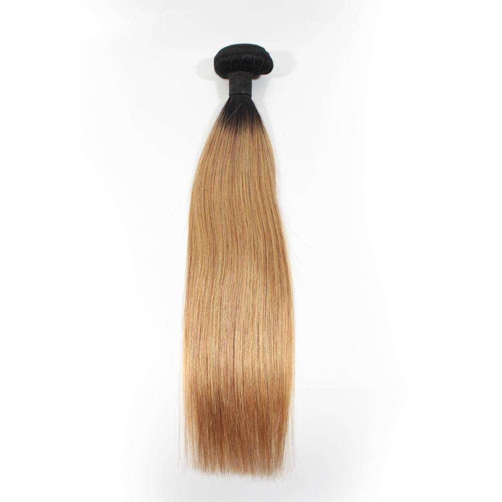Forawme Ombre Hair Bundles Ombre 1b/27 Blonde Straight Hair