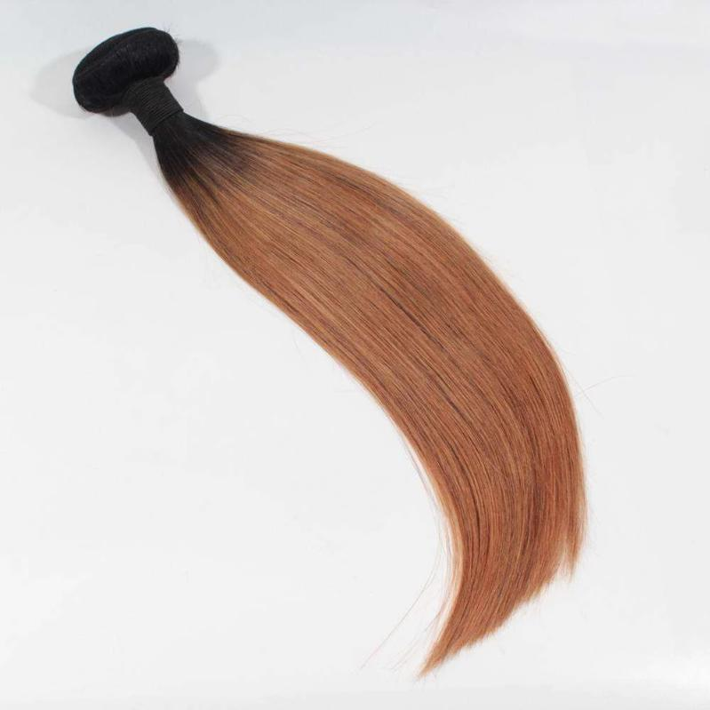 Forawme Ombre Hair Bundles Ombre 1b/30 Brown Hair Straight Human Hair 100grams