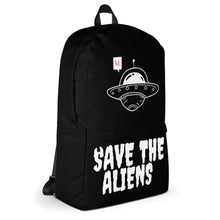 Load image into Gallery viewer, Save the aliens backpack