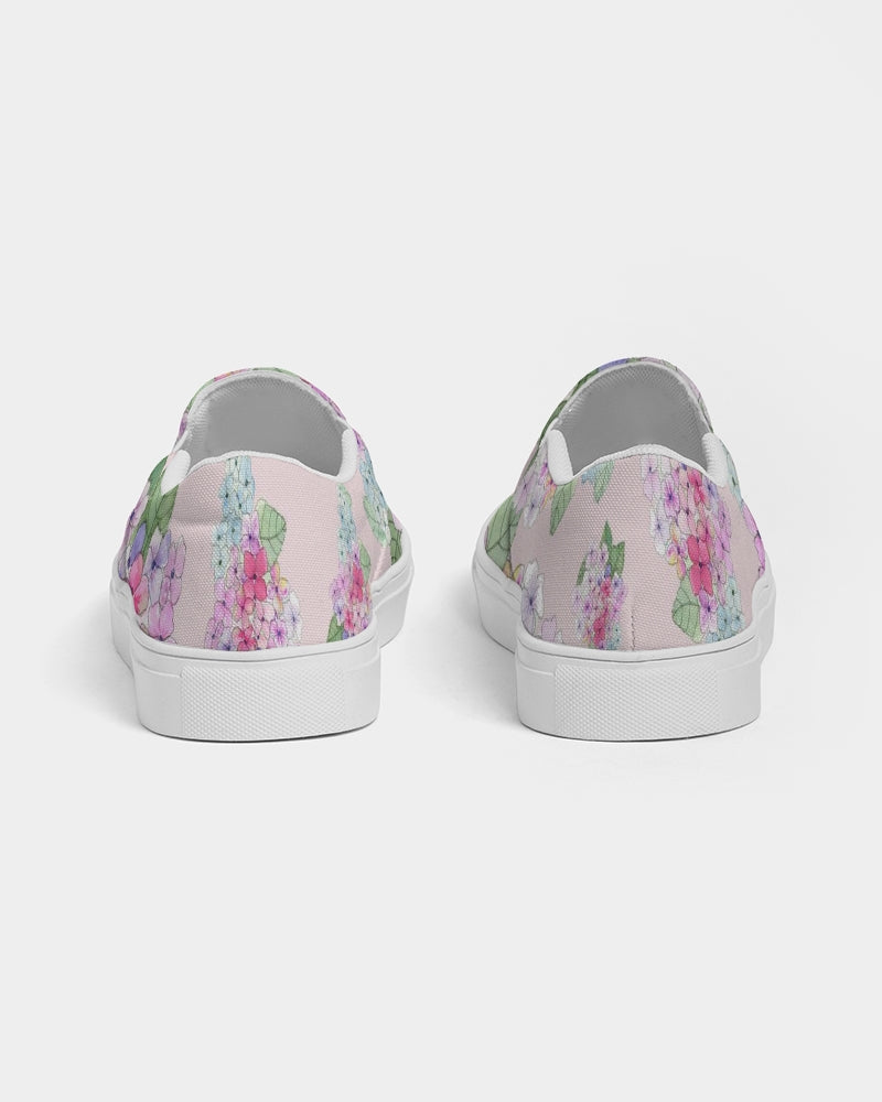 Pink Hydrangaes Women's Slip-On Canvas Shoe