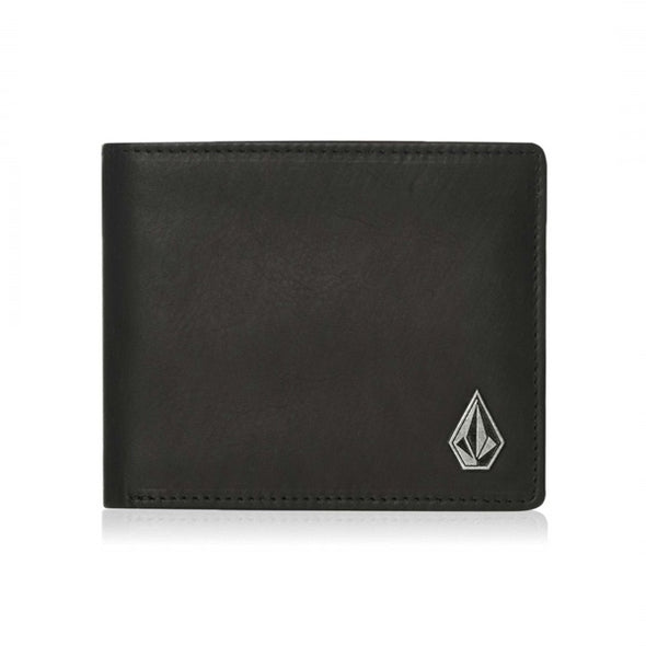 VOLCOM - SINGLE STONE LEATHER WALLET - BLACK