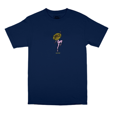 "PASS~PORT ""FLORAL DANCER"" TEE - NAVY"