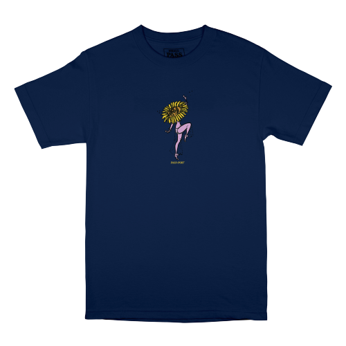 "PASS~PORT ""FLORAL DANCER"" TEE - NAVY - Antisocial Collective"