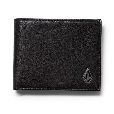 VOLCOM - SLIM STONE WALLET - BLACK
