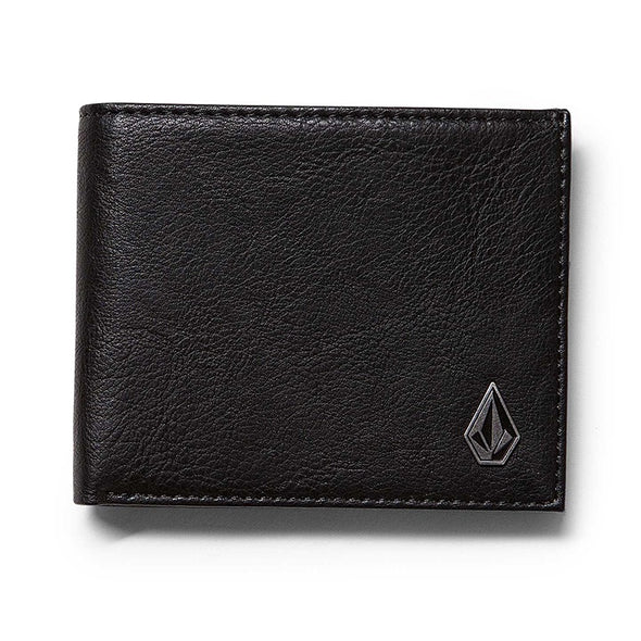 VOLCOM - SLIM STONE WALLET - BLACK - Antisocial Collective