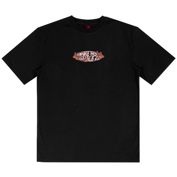 THE SNAKE HOLE - BUTTERFLIES SHVC LOGO S/S TEE - BLACK