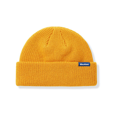 BUTTER GOODS - WHARFIE BEANIE - BURNT YELLOW