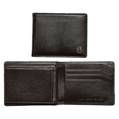 NIXON - PASS LEATHER WALLET - BROWN - Antisocial Collective