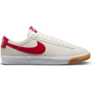 NIKE SB - ZOOM BLAZER LOW GT - SAIL/CARDINAL RED-WHITE-GUM LIGHT BROWN