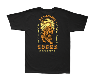 LOSER MACHINE - DOJO S/S TEE - BLACK