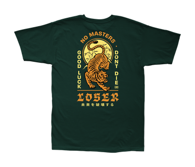 LOSER MACHINE - DOJO S/S TEE - FOREST GREEN