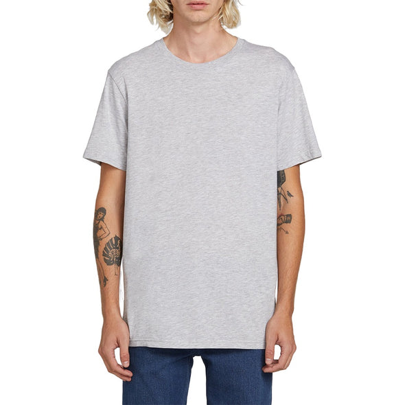 VOLCOM - SOLID S/S TEE - GREY MARLE - Antisocial Collective