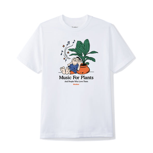 BUTTER GOODS - MUSIC FOR PLANTS TEE - WHITE