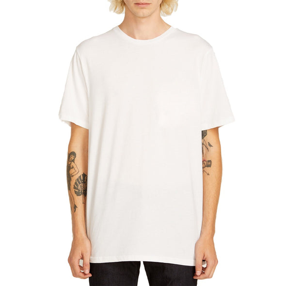 VOLCOM - SOLID S/S TEE - WHITE - Antisocial Collective