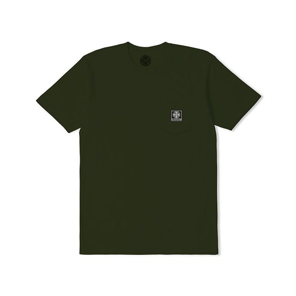 INDEPENDENT - T/C WORK POCKET TEE - JUNGLE - Antisocial Collective