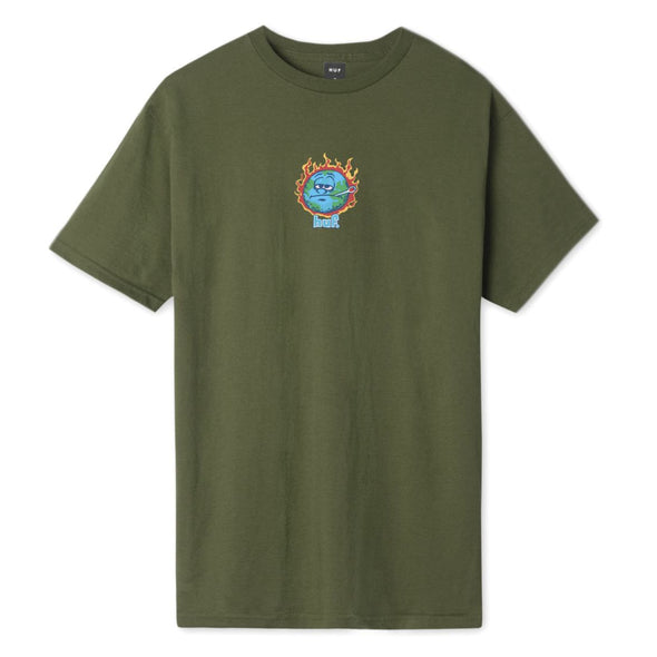 HUF - SICK SAD WORLD T-SHIRT - OLIVE