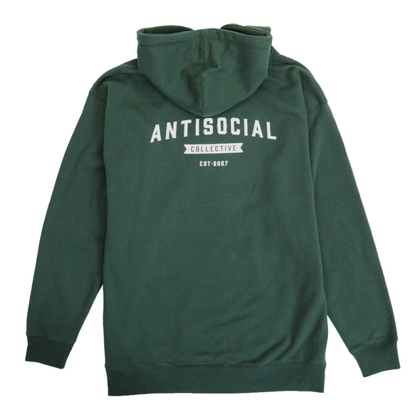ANTISOCIAL - ASC HOOD SHOP LOGO - ALPINE GREEN