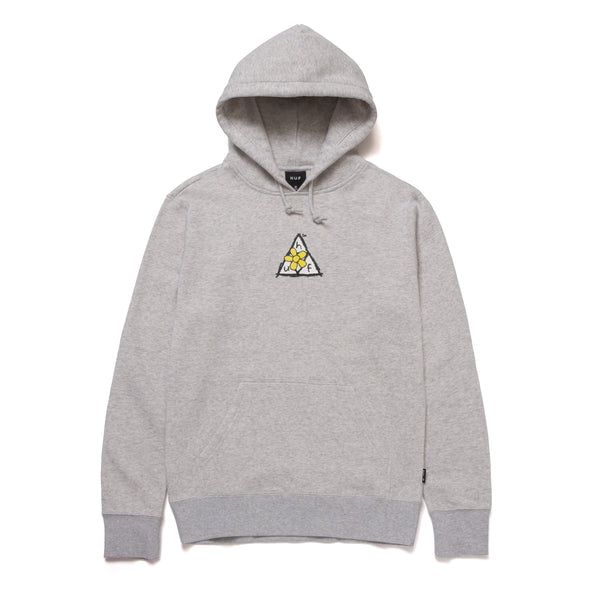 HUF - PUSHING DAISIES TRIPLE TRIANGLE PULLOVER HOODIE - ATHLETIC HEATHER