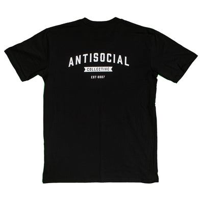 ANTISOCIAL - ASC TEE SHOP LOGO - BLACK/WHITE