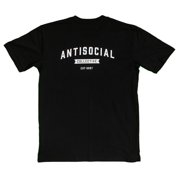 ANTISOCIAL - ASC TEE SHOP LOGO - BLACK/WHITE - Antisocial Collective