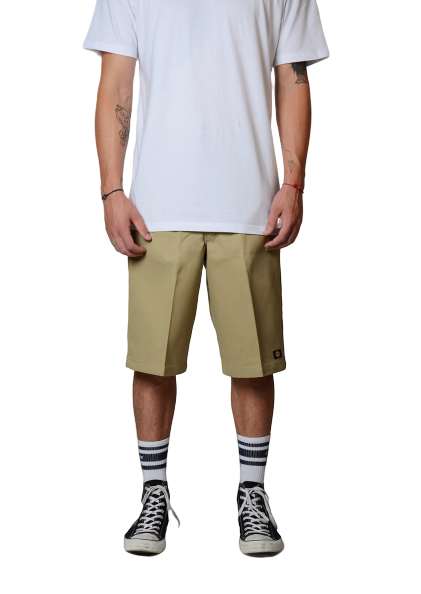 DICKIES - 13 INCH MULTI POCKET WORK SHORT - KHAKI - Antisocial Collective