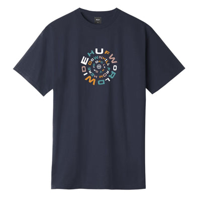 HUF - DOWNWARD SPIRAL T-SHIRT - FRENCH NAVY
