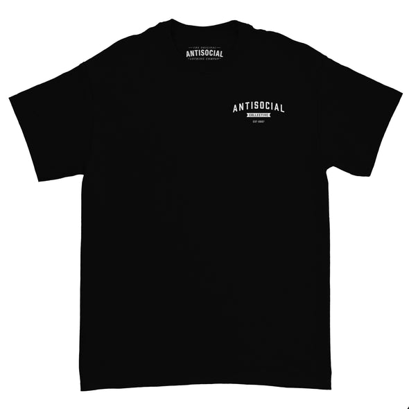 ANTISOCIAL - SHOP LOGO S/S TEE - BLACK