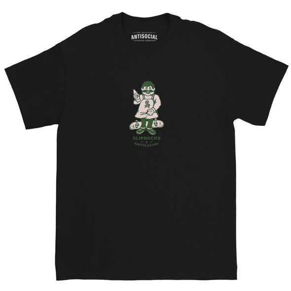 ANTISOCIAL X SLIPROCKS - INN KEEPER TEE - BLACK