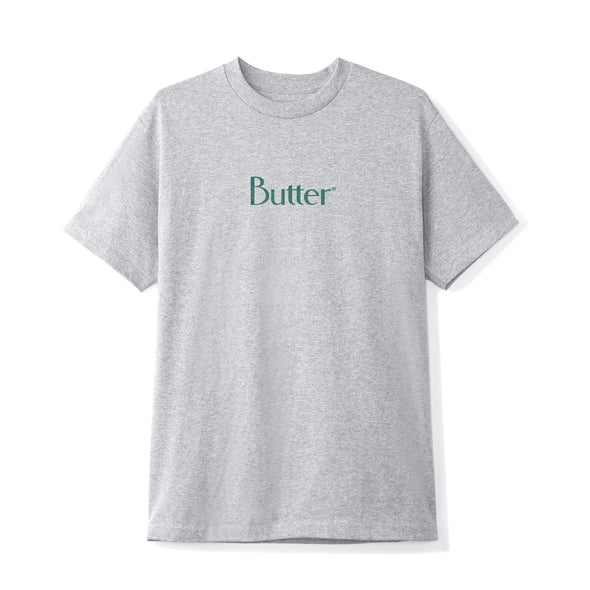 BUTTER GOODS - SPECKLE CLASSIC LOGO TEE - ASH GREY