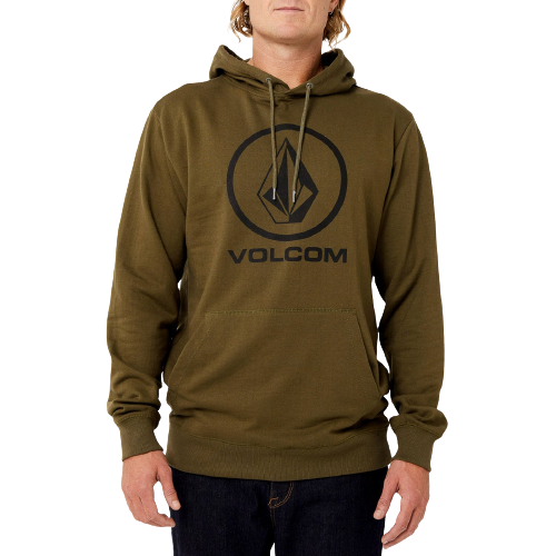 VOLCOM - BRASS TACKS 1.5 PULLOVER FLEECE - MILITARY