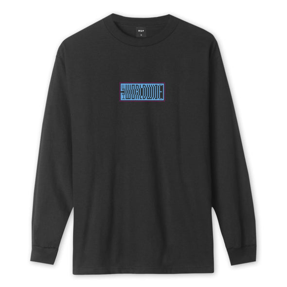 HUF - DEJA VU LONG SLEEVE T-SHIRT - BLACK